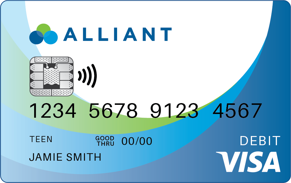 Alliant Contactless Visa® debit card